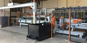 linea automatica sezionatura/rifilatura pannelli